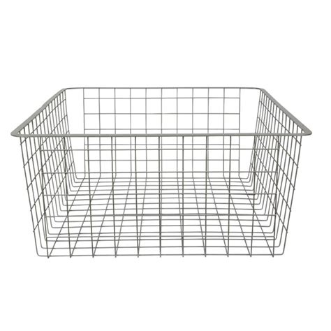 Wardrobe Wire Baskets by Clever Closet 185mm White 2 Runner Wire Basket Bunnings