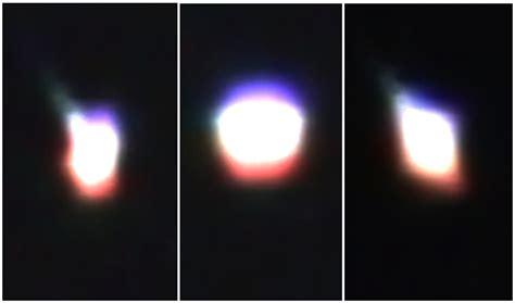 australia ufo changes shape and colors