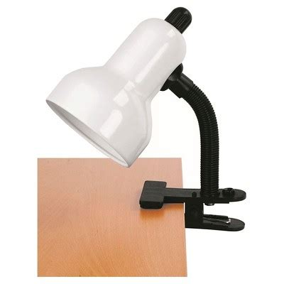Lite Source Clip On 1 Light Table L With White Shade Target Desk Ls