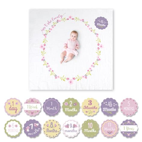 baby sts for card lulujo isn t she lovely baby s year blanket