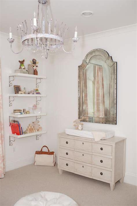 mirror over dresser in nursery shelves over nursery dresser design ideas
