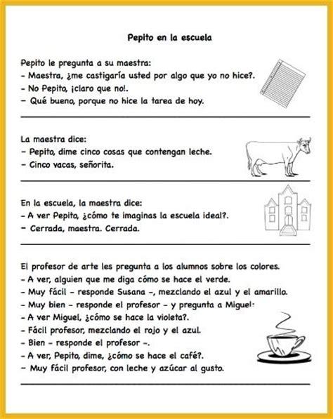 3 easy spanish short 1532821344 309 best images about spanish jokes for kids on