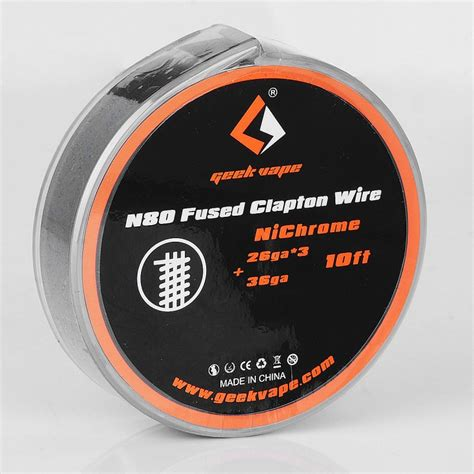Geekvape Nichrome Ni80 26ga 30ft Authentic authentic geekvape n80 fused clapton 1 62 ohm 3m heating wire