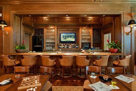Dining Room Bar by Covering Luxury And Estate Homes On The West