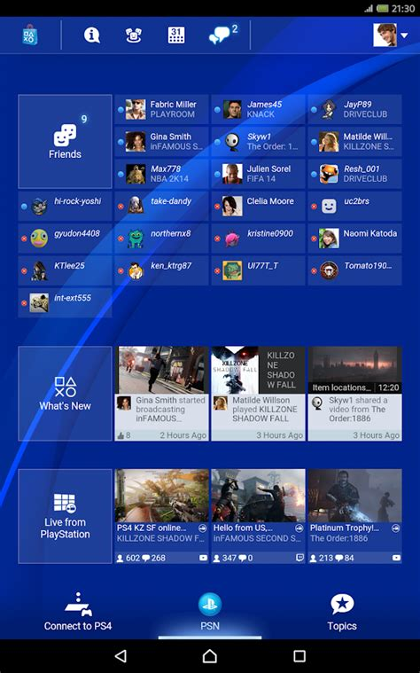 playstation 4 app playstation 174 app android apps on play