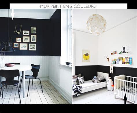 Peindre Salon 2 Couleurs by Peindre Le Mur En 2 Couleurs