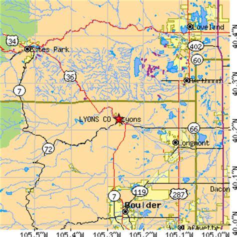 map of colorado lyons lyons colorado co population data races housing