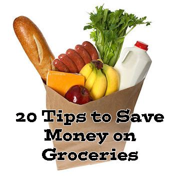 (20) tips to save money on your weekly grocery bill