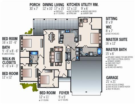 space efficient floor plans european style house plan 4 beds 2 baths 1682 sq ft plan