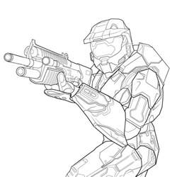 free printable halo coloring pages for