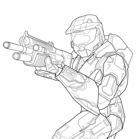 printable halo images the gallery for gt halo master chief coloring pages