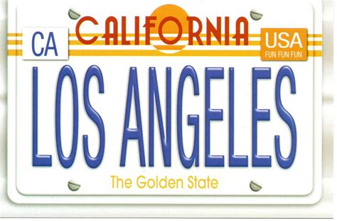 California Vanity License Plates by View Size Image