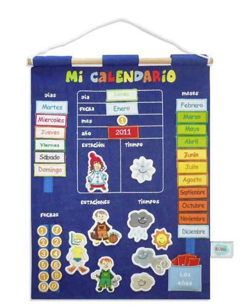 mi themes english calendario educativo de tela minimoi cositas escolares