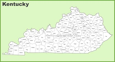 kentucky state map printable gallery