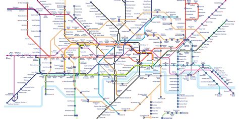 map underground elizabeth line map shows how capital s