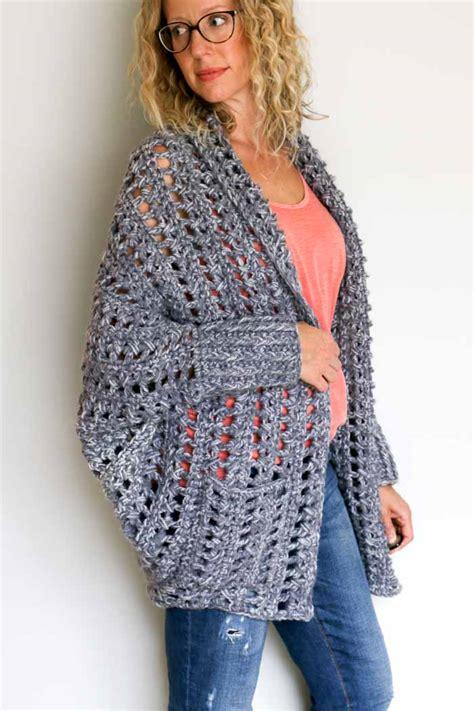 sweater pattern chunky yarn chunky crochet sweater free pattern video tutorial 15