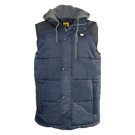 working vest caterpillar hooded insulated work vest