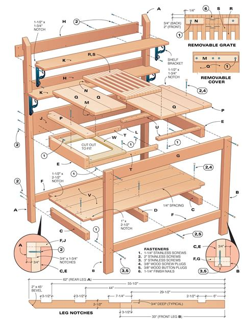 Potting Table Plans by Diy Potting Bench The Domestic Crafts A