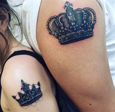 crown couple tattoo meaning 34 matching couple tattoos all lovers will appreciate