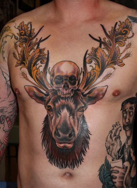 deer head tattoo pop culture and fashion magic the deer and