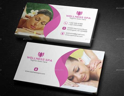 spa business cards templates free 20 best salon and spa business cards designmaz