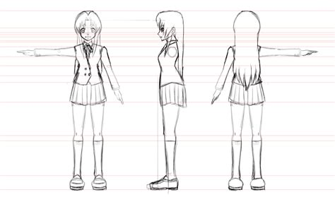 ami kawashima model sheet by johnnydwicked on deviantart