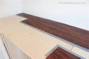 Top Laminate Flooring Craft Room Desk Tutorial How To Nest For Less