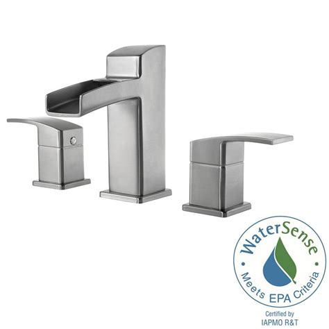 pfister brushed nickel waterfall faucet pull brushed