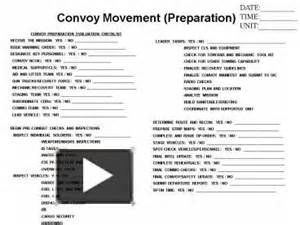 Convoy Briefformat Ppt Convoy Preparation Evaluation Checklist Powerpoint Presentation Free To View Id 32444