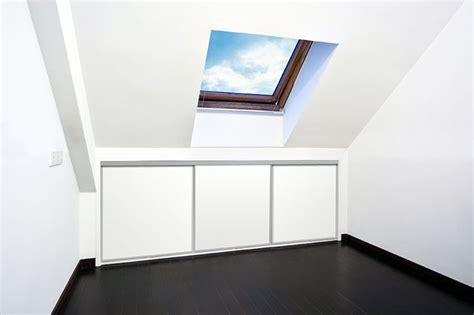 eaves closet sliding wardrobe doors attic ideas