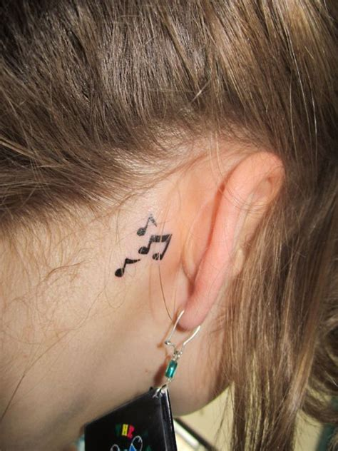 music note tattoo behind ear tumblr behind the ear music notes tattoos pinterest