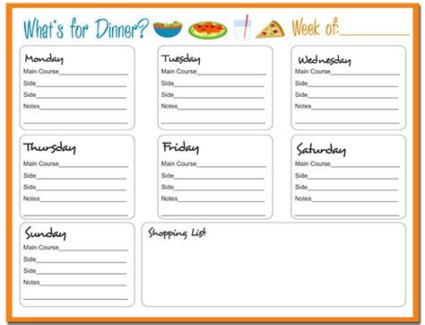 free printable meal planner template menu plan monday may 21 12 giveaway weekly
