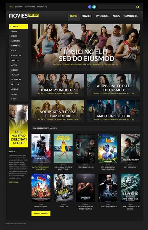 themes in film 20 best awesome video movie themes for wordpress 2017