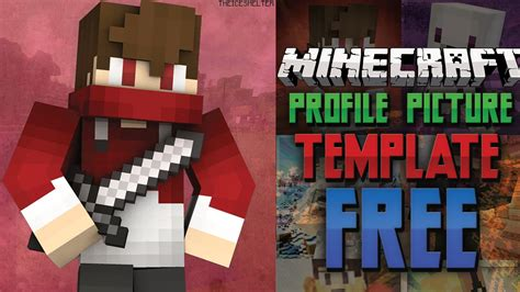 minecraft profile picture template updated free minecraft profile picture template