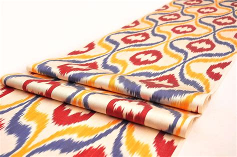 Ikat Fabric Upholstery Silk Ikat Fabric By The Yard Alesouk Grand Bazaar Online