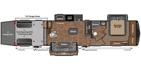 fuzion floor plans 2013 keystone rv fuzion fifth wheel series m 375 specs and