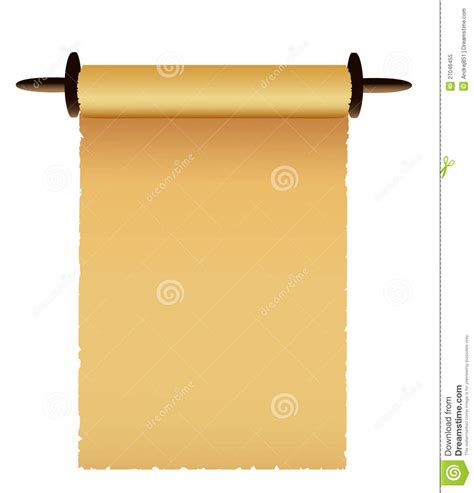 Scroll Of Old  Ee  Paper Ee   Vector Vector Illust Ion Of