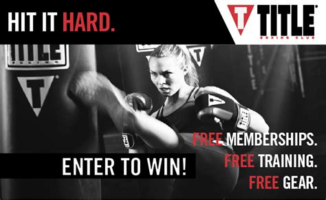 Enter To Win Sweepstakes 2014 - title boxing club cool springs launches sweepstakes to