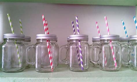 imagenes de vasos vintage tarro de vidrio con asa y popote vintage 25 00 en