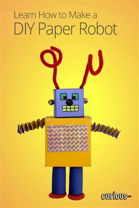 How To Make A Robot With Paper - how to make a diy paper robot kiddies