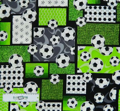 Patchwork And Quilting Fabric - patchwork quilting sewing cotton fabric soccer football
