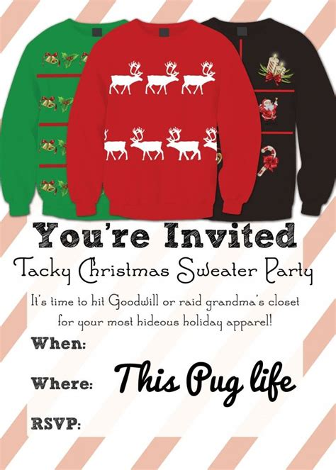 Come With Me Sweater Ae Invites by Best 25 Tacky Sweater Ideas On