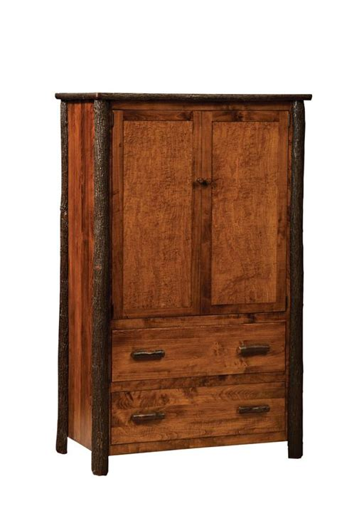 hickory armoire amish rustic hickory armoire
