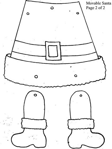 Movable Santa Coloring Page | movable santa page 2 coloring pages pinterest