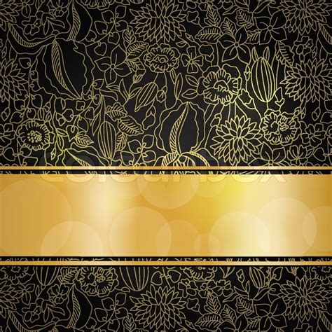 floral black orange gold background heart royalty free stock photos image 36536688 gold floral pattern on black background with golden ribbon