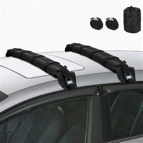 Soft Roof Racks by 2pcs Universal Car Roof Bars Soft Racks Kayak Luggage Carrier Straps Ebay