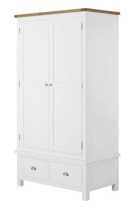 Large White Wardrobe With Drawers by Portland White Wardrobe With 2 Drawers