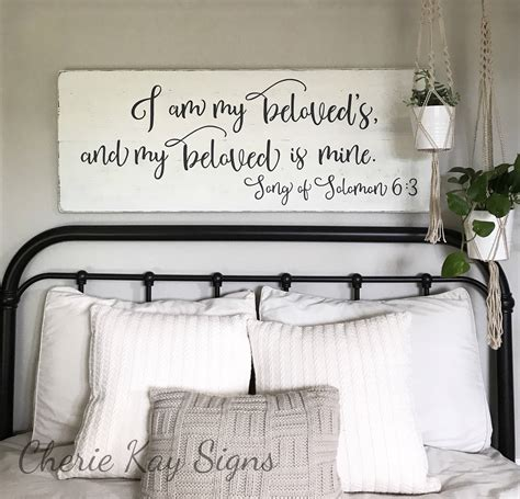 Bedroom Signs by Bedroom Wall Decor I Am My Beloveds Sign Bedroom Decor
