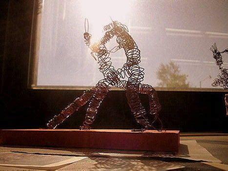 wire sculpture people  wire model wirework  cut