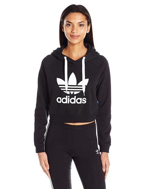 Jaket Crop Hodie Black adidas originals s originals crop hoodie black